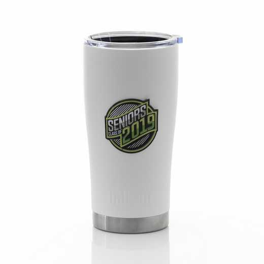 Limited: Seniors 2019 White Matte Tumbler 20 oz
